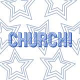 Tekstteken die Kerk tonen Conceptuele van de het Altaartoren van de fotokathedraal van de de Kapelmoskee van het het Heiligdomshe vector illustratie
