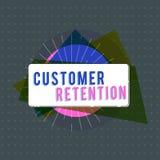 Tekstteken die Klantenbehoud tonen De conceptuele foto die loyale klanten houden behoudt velen mogelijk vector illustratie