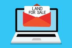 Tekstteken die Land voor Verkoop tonen De conceptuele van de Partij Verkopende Ontwikkelaars van fotoreal estate Computer van de  stock illustratie
