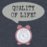 Tekstteken die Levenskwaliteit tonen Het conceptuele Welzijn van het Geluk Plezierige Ogenblikken van de foto Goede Levensstijl stock illustratie