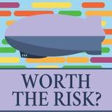 Tekstteken die met een waarde van de Risicokwestie tonen Conceptuele foto vragen die of bracht bepaalde actie met zijn reactie in royalty-vrije illustratie
