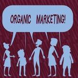 Tekstteken die Organische Marketing tonen Conceptuele foto die uw klanten ertoe brengen om aan u natuurlijk na verloop van tijd t royalty-vrije illustratie
