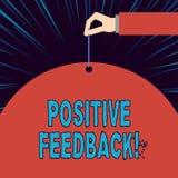 Tekstteken die Positieve Terugkoppeling tonen Conceptuele foto goede en grote commentaren die uit tevreden klanten komen vector illustratie