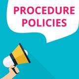 Tekstteken die Procedurebeleid tonen royalty-vrije illustratie