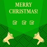 Tekstteken die Vrolijke Kerstmis tonen Conceptuele het Seizoenviering December van de fotovakantie stock illustratie