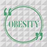 Tekstteken die Zwaarlijvigheid tonen De conceptuele Overmaat van de foto Medische voorwaarde van lichaamsvet geaccumuleerd gezond stock illustratie