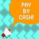 Tekstteken het tonen betaalt door Contant geld Conceptuele fotoklant die met de rekeningen van geldmuntstukken en détail het wink vector illustratie