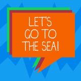 Tekstteken het tonen liet S is gaat naar het Overzees Conceptuele fotouitnodiging om vakanties in de zomerstapel van het paradijs vector illustratie