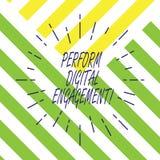 Tekstteken het tonen voert Digitale Overeenkomst uit Het conceptuele fotogebruik van sociale media door een collectieve organisat stock illustratie
