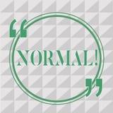 Tekstteken Normaal tonen Conceptuele foto die met standaard gebruikelijke typische verwachte traditioneel in overeenstemming zijn royalty-vrije illustratie