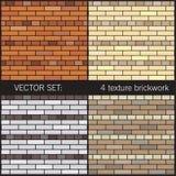4 tekstur brickwork Fotografia Royalty Free