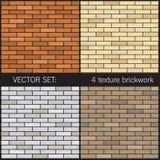 4 tekstur pojedynczy brickwork Zdjęcie Royalty Free