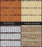 4 tekstur prosty brickwork Obrazy Royalty Free