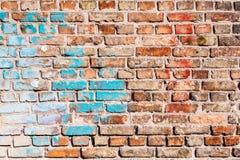Tekstura ściana z cegieł, malująca z starą farbą Zdjęcie Stock