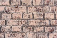 Tekstura ściana z cegieł z pęknięciami i narysami które mogą używać jako tło obraz royalty free
