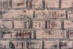 Tekstura ściana z cegieł z pęknięciami i narysami które mogą używać jako tło fotografia royalty free