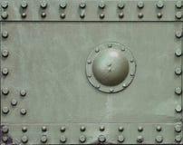 Tekstura ściana zbiornik robić metal i wzmacniająca z bezlikiem, rygle i nity Wizerunki nakrycie Zdjęcie Royalty Free