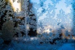 Tekstura, śnieg, zima, wakacje, lód, szkło, nowy rok, boże narodzenia zdjęcie stock