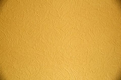 Tekstura żółta farba na ścianie fotografia royalty free