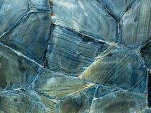 Tekstura Błękitna Grunge skały ściana zdjęcie royalty free