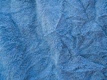 tekstura błękitny ręcznik Obraz Stock