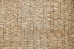 Tekstura bambus mata, abstrakcjonistyczny tło Zdjęcia Stock