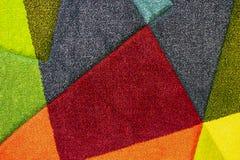 Tekstura barwiący dywan Tło dywan z barwić wszywkami obraz stock