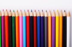 Tekstura barwioni ołówki na białym tle fotografia stock