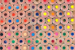 Tekstura barwioni ołówki Fotografia Stock