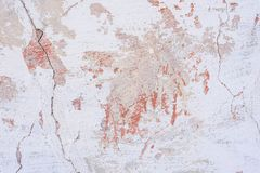 Tekstura betonowa ściana z pęknięciami i narysami które mogą używać jako tło obrazy stock