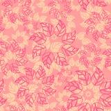 tekstura bezszwowy wektor Niekończący się tło z liśćmi Wektorowy tło dla use w projekcie Use dla tapety, tkaniny, packagin Fotografia Stock