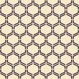 tekstura bezszwowy wektor nowoczesne abstrakcyjne tło Monochromatyczny geometrical wzór z sześciokątami royalty ilustracja