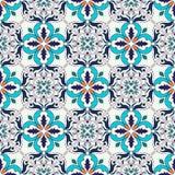 tekstura bezszwowy wektor Piękny barwiony wzór dla projekta i moda z dekoracyjnymi elementami royalty ilustracja
