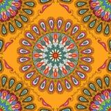 tekstura bezszwowy wektor Piękny mandala wzór dla projekta i moda z dekoracyjnymi elementami royalty ilustracja