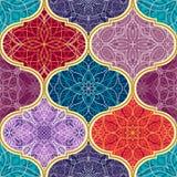 tekstura bezszwowy wektor Piękny mega patchwork mozaiki wzór dla projekta i moda z dekoracyjnymi elementami ilustracja wektor