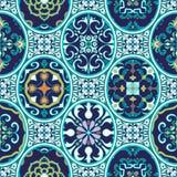 tekstura bezszwowy wektor Piękny patchworku wzór dla projekta i moda z dekoracyjnymi elementami ilustracja wektor