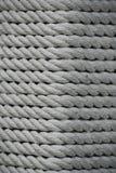 Tekstura - biała morska arkana od naturalnych włókien Zdjęcie Stock