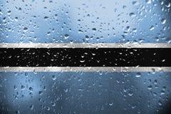 Tekstura Botswana flaga obraz stock