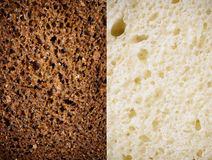 Tekstura brown i biały chleb Fotografia Royalty Free