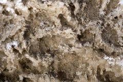 Tekstura brudny ciężki strzępiasty roztapiający śnieżny kręcenie w lód zdjęcia royalty free