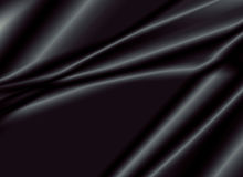 Tekstura czarna jedwabnicza tkanina Obraz Royalty Free