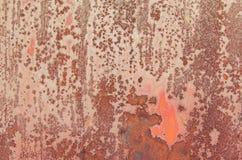 Tekstura czerwieni rdza Zdjęcia Royalty Free