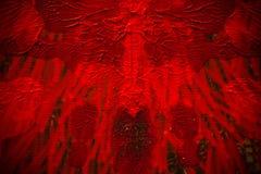 tekstura czerwona akrylowa farba, czerwony tło barwi obraz stock