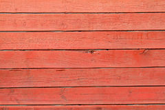 Tekstura czerwone drewniane deski Obrazy Stock