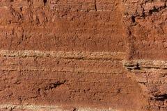 Tekstura czerwonego piaskowa falezy Obrazy Royalty Free