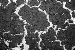 Tekstura dno rezerwuaru piasek i akumulacja namuł na wierzchołku Tło Czarny i biały wizerunek obrazy royalty free