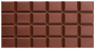 Tekstura dojny czekoladowy bar od odgórnego widoku zdjęcia stock