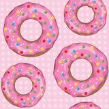 Tekstura donuts na różowym kolorze Zdjęcia Stock