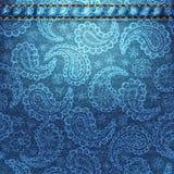 Tekstura drelichowa tkanina z Paisley Fotografia Stock