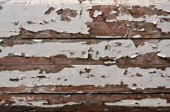 Tekstura drewniana ściana z starym farba narzutem który psuje pod wpływem czasu i weathe Fotografia Stock